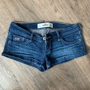 Dark denim Hollister jean shorts